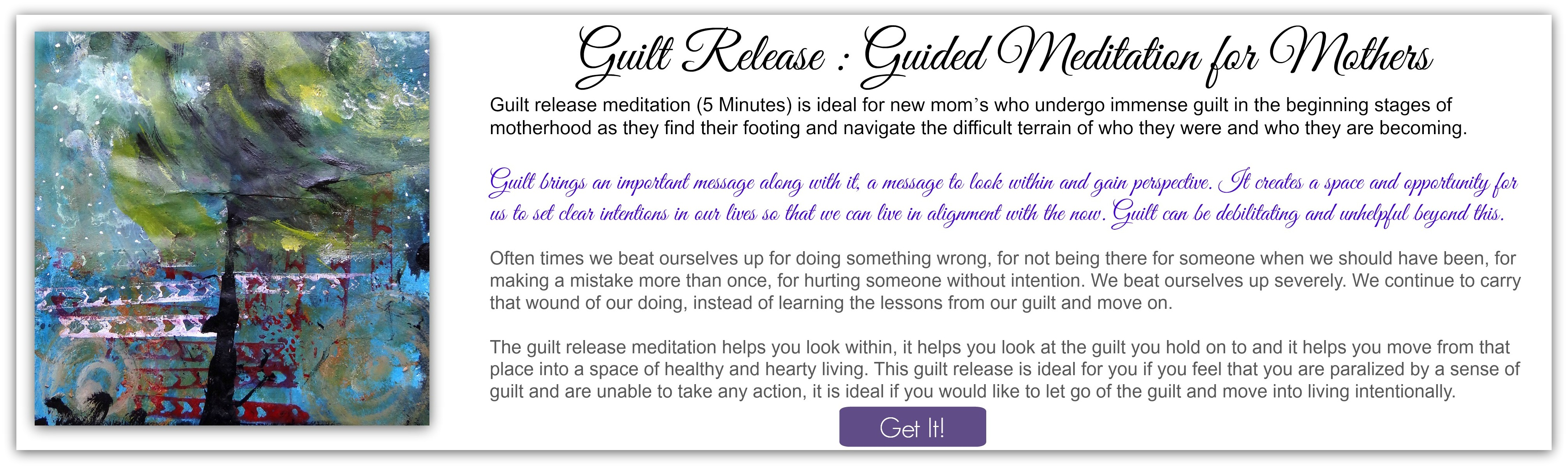 Guilt Release Meditation for Mothers