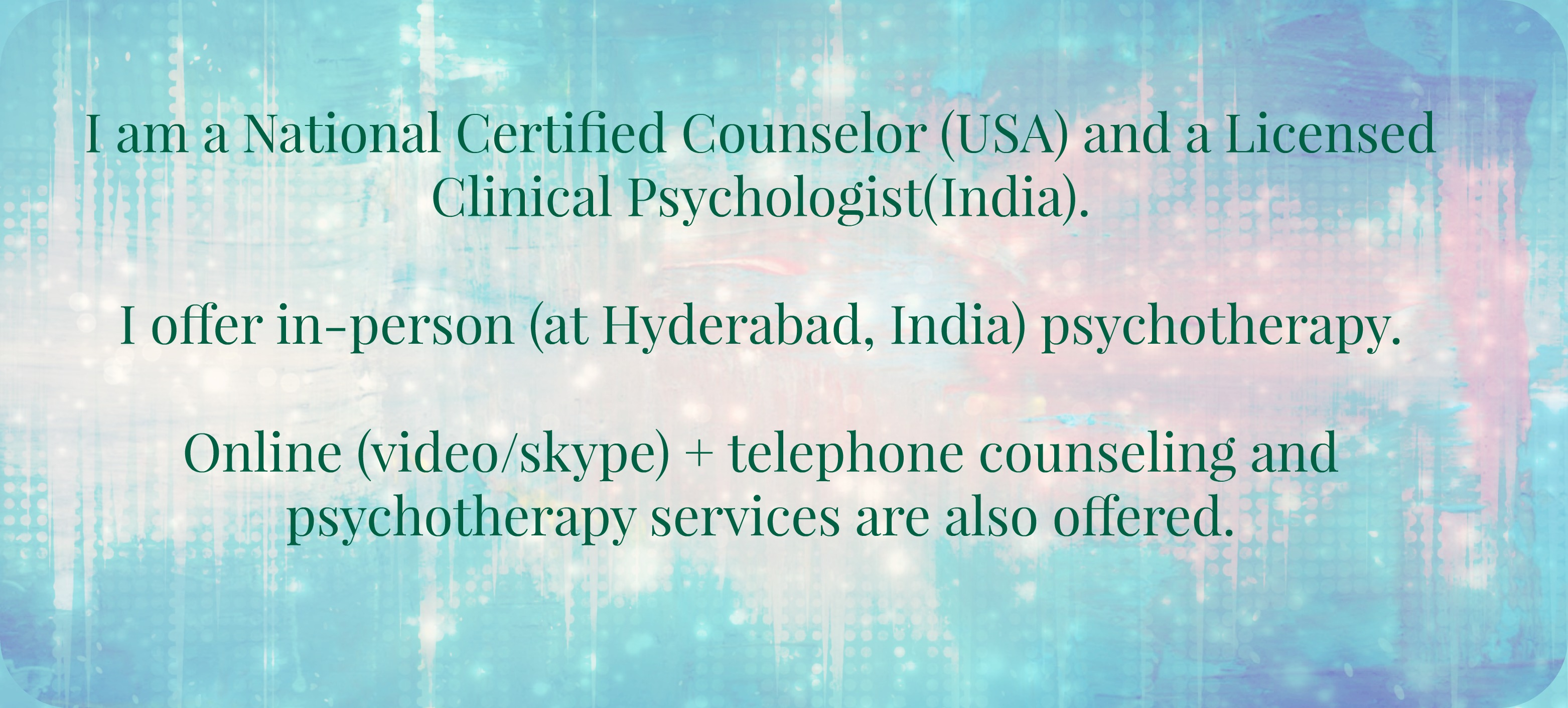 Aarathi Selvan Psychologist Hyderabad